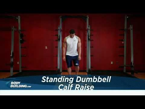 Standing Dumbbell Calf Raises - Calf Exercise - Bodybuilding.com