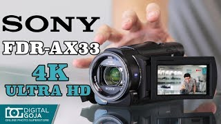 Sony FDR-AX33 4K Ultra HD Video Handycam Camcorder   Unboxing & Overview