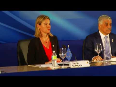 Visit of Federica Mogherini to The Dominican Republic: press conference