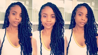 How to do quick individual distressed faux locs using crochet hair 18"