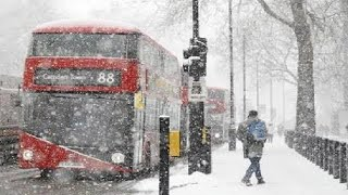 London Under Snow East Winter Snow Arrives In UK London 2019