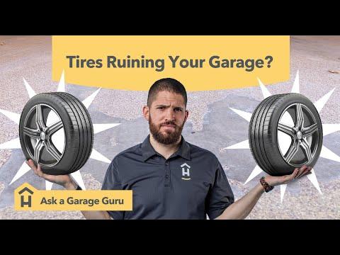 Hot Tire Pickup On An Epoxy Floor