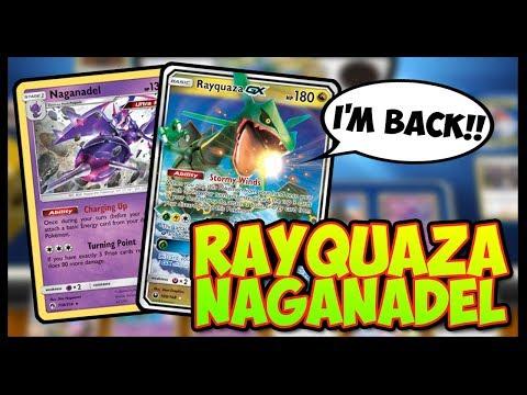 Rayquaza's Back? Rayquaza GX / Naganadel – Pokemon TCG Online Gameplay