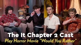 """The It Chapter 2 Cast Play an Intense Game of Horror Movie """"Would You Rather"""""""