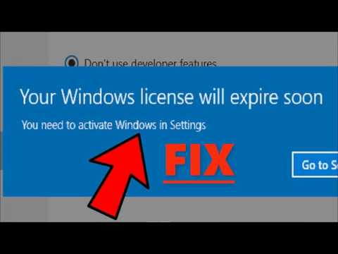 Fix Your Windows License Will Expire Soon Error on Windows