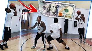 $100 1v1 Basketball Game Against Trash Talker!