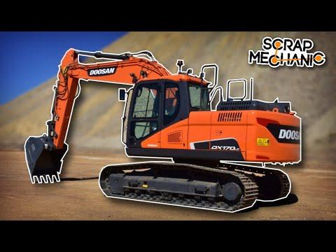 Building an Excavator with Tank Tracks! - Scrap Mechanic Live Stream