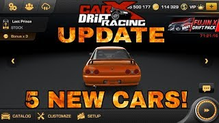 5 NEW CARS! | CarX Drift Racing 1.12.0 UPDATE!!!