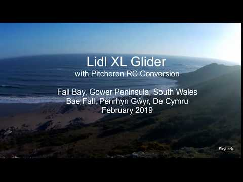 slope-soaring-a-lidl-xl-glider-at-fall-bay-on-the-gower-peninsula