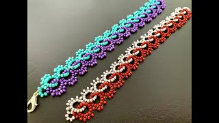 Interlace Beaded Bracelet || How To Make Beaded Bracelet || Beaded Lace