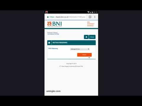 Cara Cek Saldo Masuk Mutasi Rekening BNI Via Internet Banking