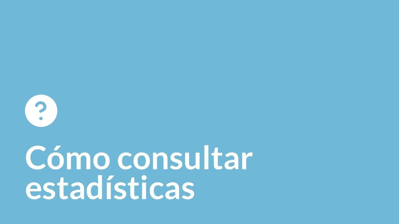 Cómo consultar estadísticas de tu sitio web.
