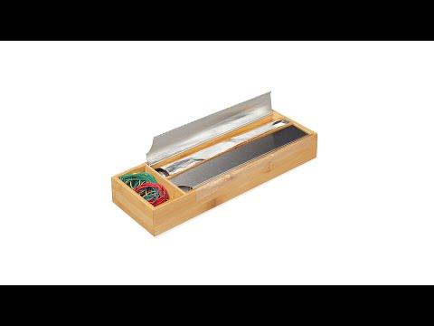 Folienspender Bambus + Edelstahl
