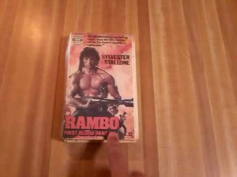 Rambo First Blood part 2 VHS review