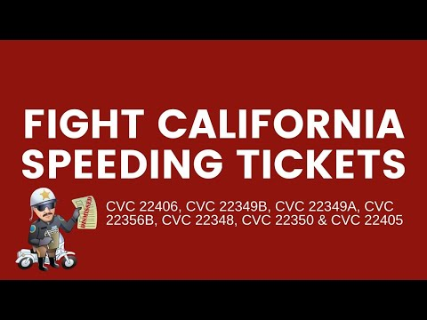 Fight California Speeding Tickets