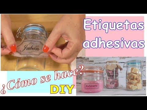 Como hacer tus propias Etiquetas Adhesivas. Fácil y rápido. Método casero. DIY
