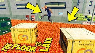 IL PAVIMENTO È LAVA SU GTA5!! - The Floor Is Lava Challenge