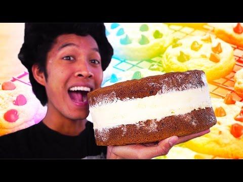 DIY GIANT COOKIE ICECREAM SANDWICH!!!