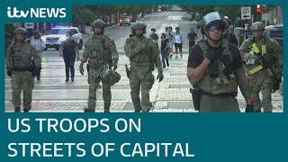 US military deploys across Washington amid protests   ITV News