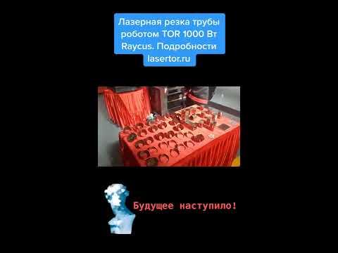 Лазерная резка трубы роботом TOR 1000 Вт Raycus