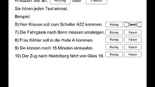 Start Deutsch 1 Hoeren Teil 2 Modelltest