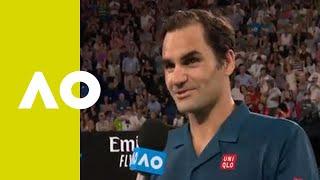 Roger Federer on-court interview (1R) | Australian Open 2019