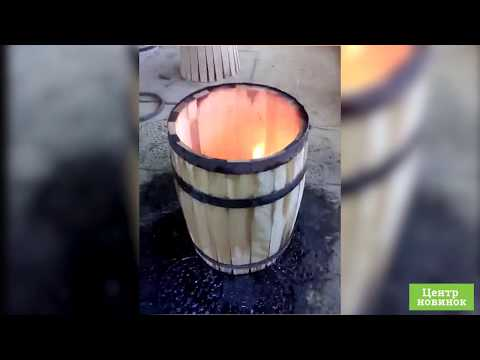 Видео Дубовая бочка 10 литров
