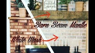 Brick Fireplace Makeover (Start To Finish DIY)
