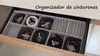 DIY Cómo hacer un organizador de cinturones de cartón