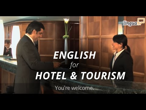 """Learn English for Hotel and Tourism: """"Checking into a hotel"""" 