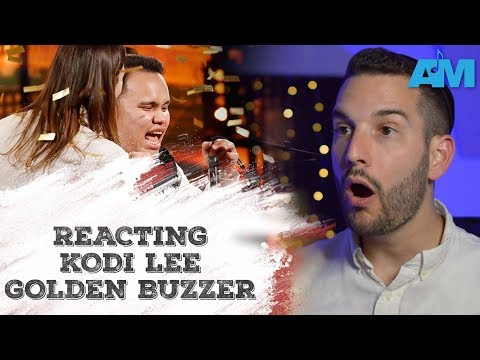 VOCAL COACH reacts to KODI LEE's Golden BUZZER (видео)