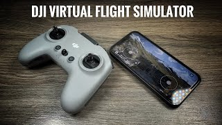 DJI Virtual Flight Simulator Demo - How To Setup Controller & Goggles