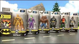Batman + DC Spin Master 10cm Figuren + Batmobil - Action Figure Review - Joker, Robin