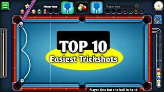 Top 10 Trickshots (EASIEST TRICKSHOTS) - 8 ball pool.
