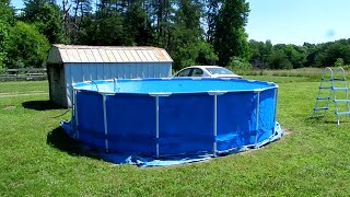Setting Up Our Inexpensive Intex Swimming Pool.