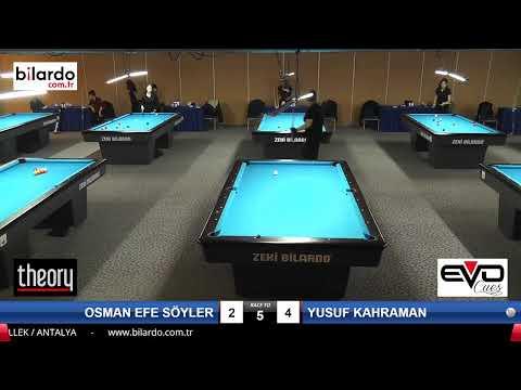 OSMAN EFE SÖYLER & YUSUF KAHRAMAN Bilardo Maçı -