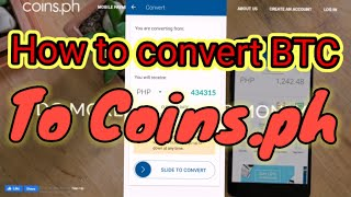 how to convert BTC to Coins.ph PHP worth of 7520 pesos