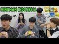 BAGAIMANA JADINYA ORANG KOREA MINUM MINUMAN INSTAN KHAS INDONESIA