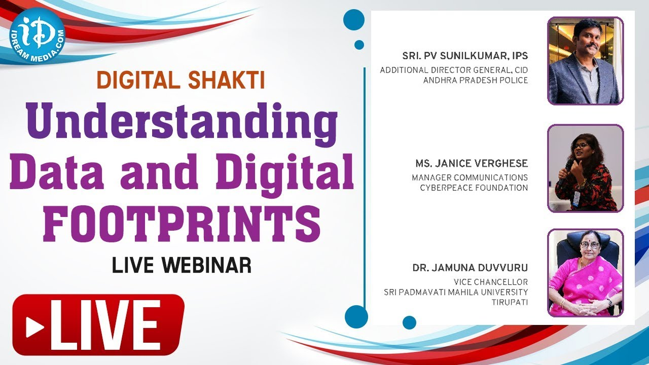 LIVE Webinar On Digital Shakti - Understanding data and Digital Footprints - #e-RakshaBandhan