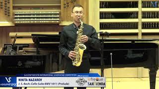 Nikita Nazarov plays Suite BWV 1011 Prelude by J.S. Bach