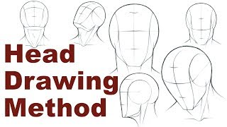 Portrait Drawing Basics 1/3 - How To Draw A Simple Head