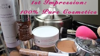 First Impression: 100% Pure Cosmetics (Foundation, Powder and Concealer)