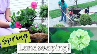 PLANTING FLOWERS | MULCHING THE FLOWER BEDS | SPRING LANDSCAPING!