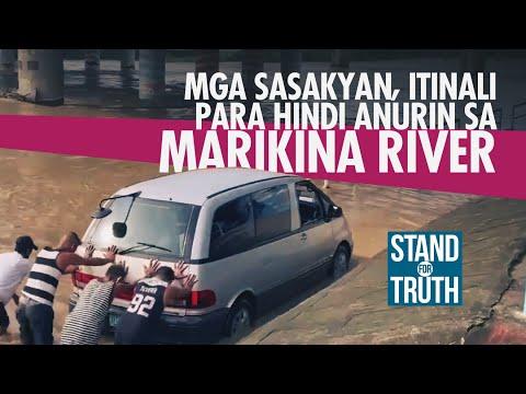 [GMA]  Mga sasakyan, itinali para hindi anurin sa Marikina River   Stand for Truth
