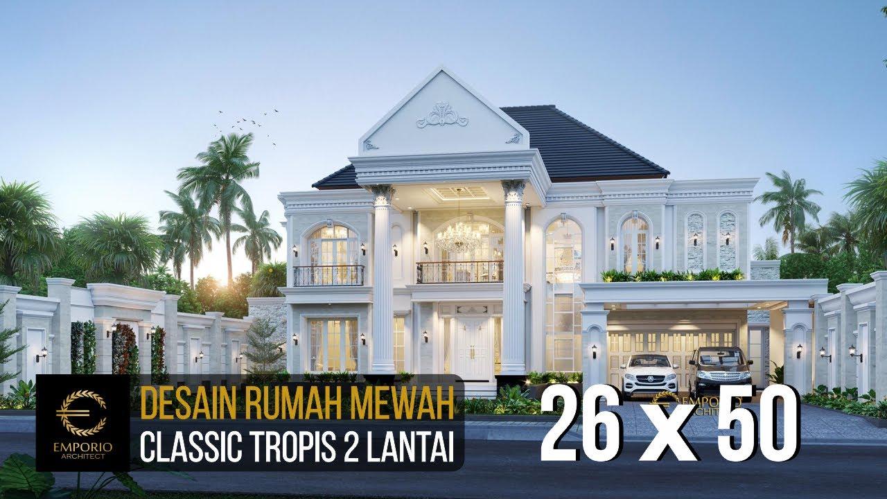 Video 3D Desain Rumah Classic 2 Lantai Bapak Mubin - Bengkulu