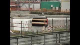 preview picture of video 'Nouvelle gare de Mons - évolution du chantier au 02 septembre 2014 (parking sud et quai 3)'