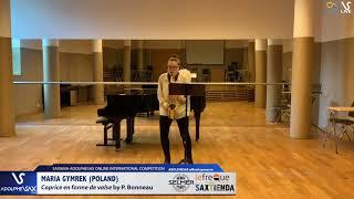 Maria GYMREK plays Caprice en forme de valse by P. Bonneau #adolphesax