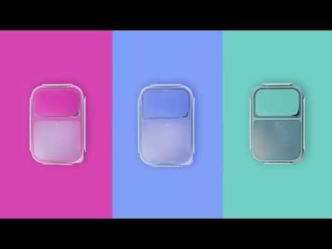 Ланч бокс герметичный OldPAPA Bento 1200 мл розовый (ОА-30752) Video #1