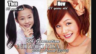 Morning Musume Members: THEN and NOW