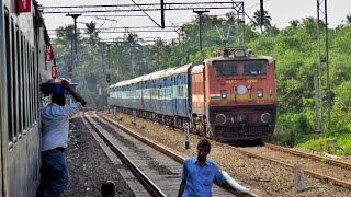 ALAPPUZHA (ALLEPPEY) to COCHIN Airport : A Train Journey Onboard EXECUTIVE Express (Indian Railways)